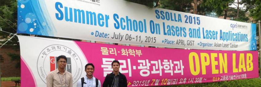 Three Photonics members attend laser summer school in Korea